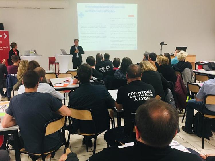 Hacking Health Lyon : intervention du Professeur Philippe Michel