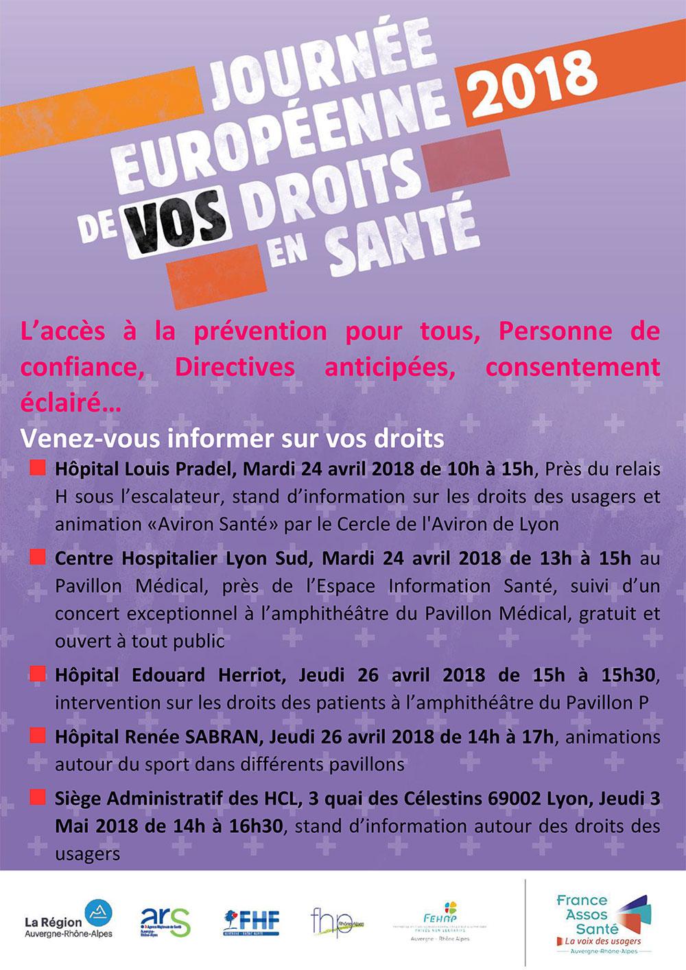 Journée européenne de vos droits en santé à Lyon