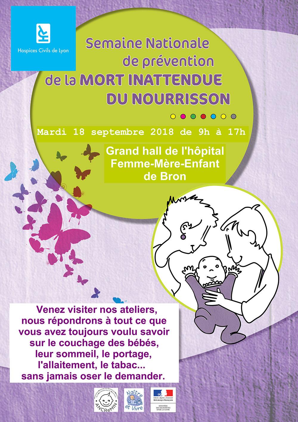 Journée de prévention de la mort inattendue du nourrisson à Lyon