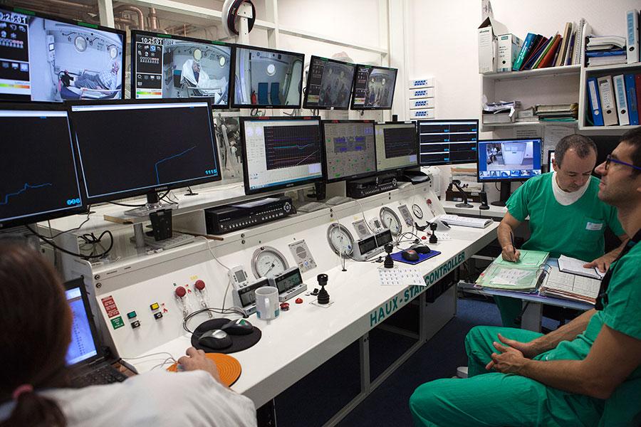 Pilotage du caisson de médecine hyperbare à l'hôpital Edouard Herriot - HCL