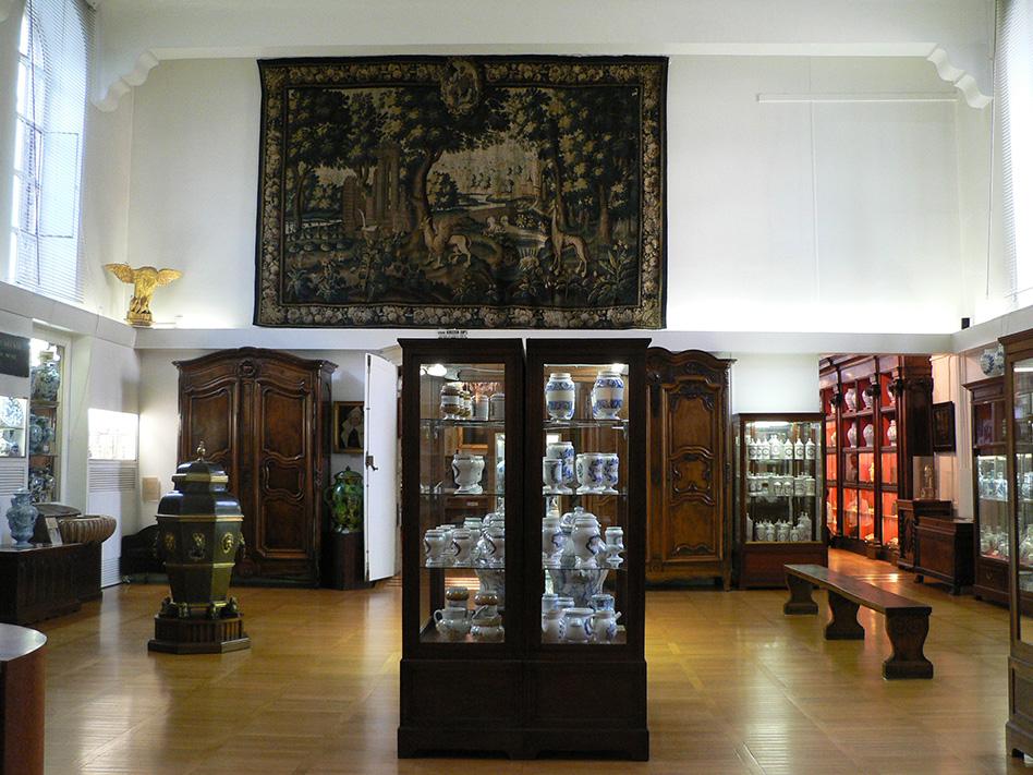 Salle Emile Delore, vue de l'entrée du musée (c) Joséphine Bitat, Musée des HCL