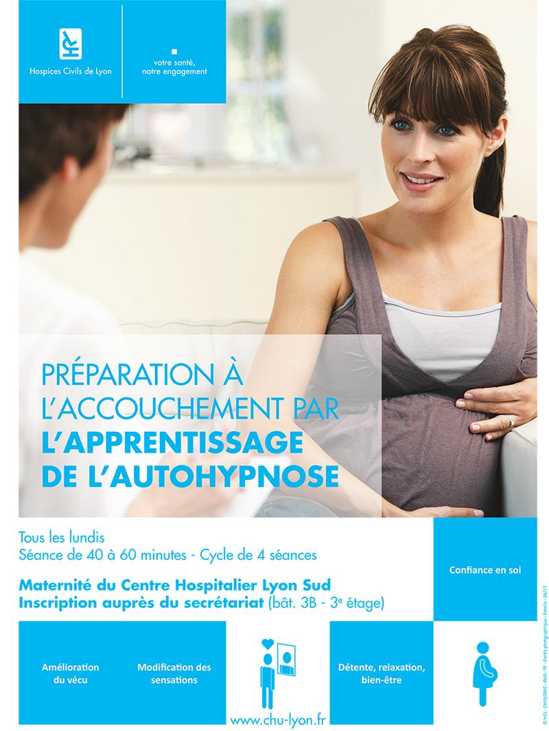 Préparation à l'accouchement par l'apprentissage de l'autohypnose à la maternité du Centre Hospitalier Lyon Sud