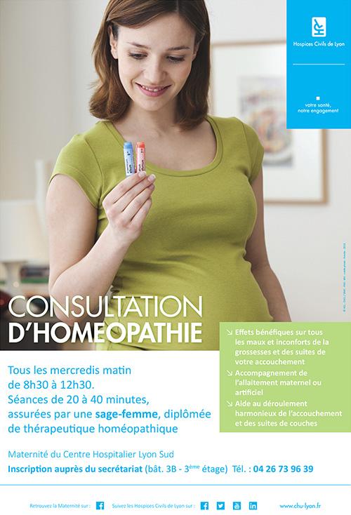 Consultation d'homéopathie à la maternité du Centre Hospitalier Lyon Sud