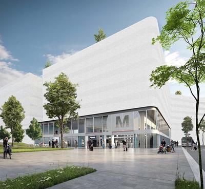 Vue extérieure de la station « Saint-Genis-Laval Hôpitaux-Sud »