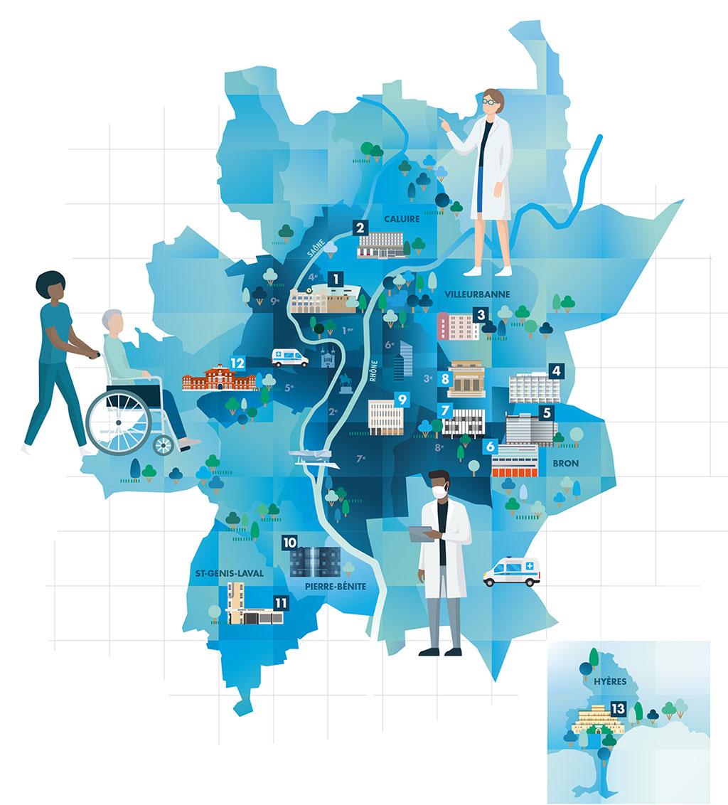 13 hôpitaux publics d'excellence