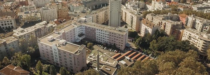 Façade de l'hôpital des Charpennes