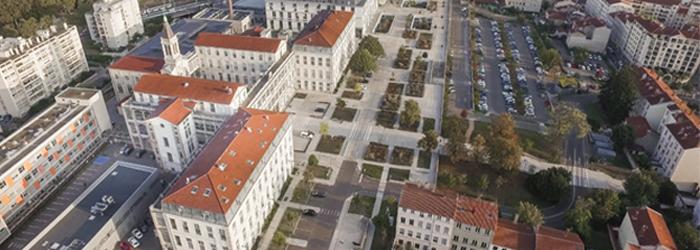 Vue aérienne de l'hôpital de la Croix-Rousse