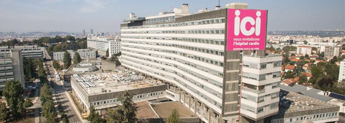 Façade de l'hôpital Louis Pradel