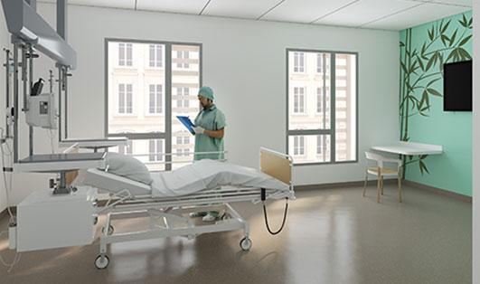 Futur bâtiment du service des maladies infectieuses et tropicales de l'hôpital de la Croix-Rousse
