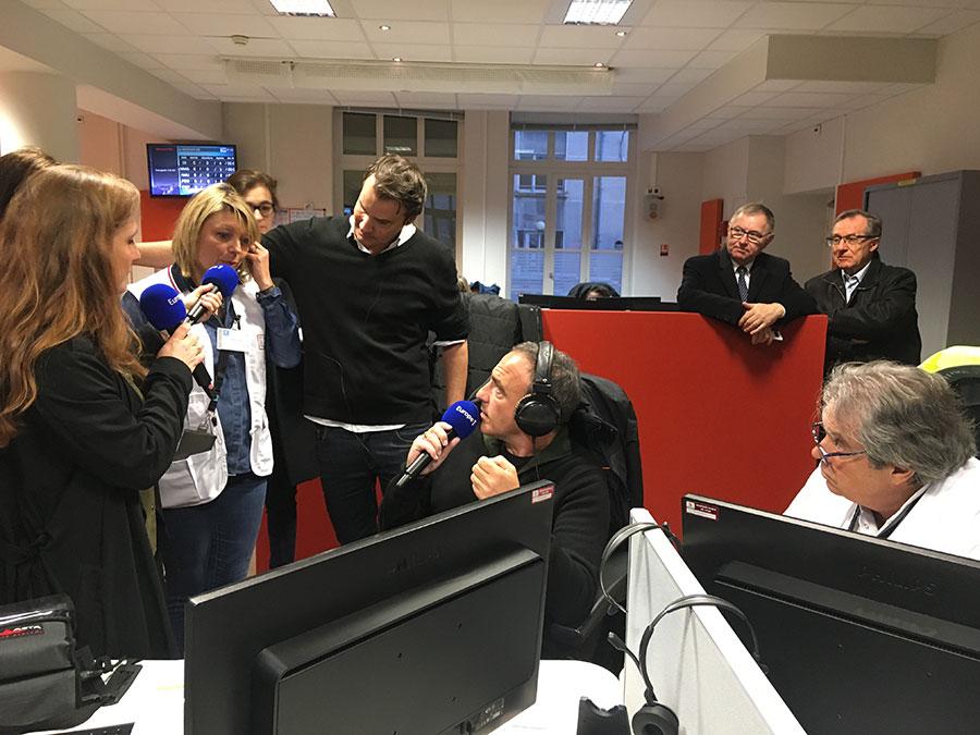 La matinale d'Europe 1 s'est invitée à l'hôpital Edouard Herriot