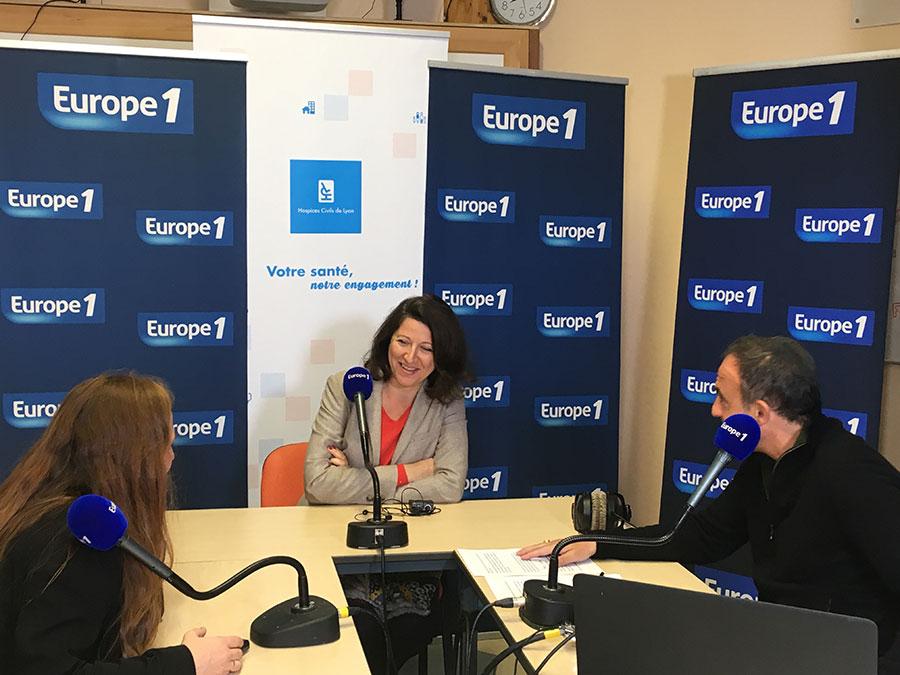 Agnès Buzyn s'est invitée à l'hôpital Edouard Herriot