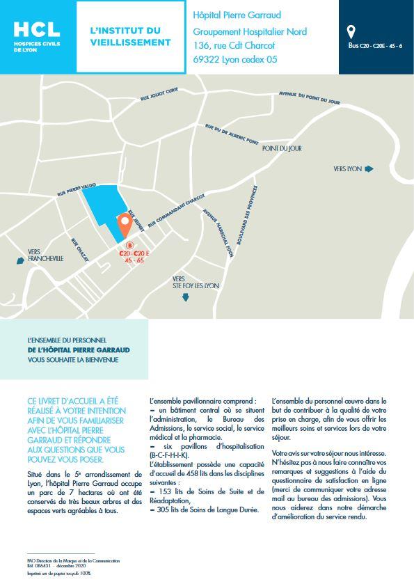 Plan & infos pratiques de l'hôpital Pierre Garraud