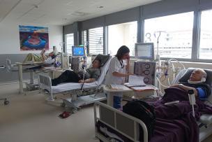 Patients dialysés dans les nouveaux locaux du Centre Hospitalier Lyon Sud