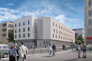 Mit : nouveau bâtiment service des maladies infectieuses et tropicales - hôpital de la Croix-Rousse