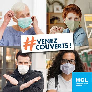 Il est demandé à tous les patients venant à l'hôpital, quel que soit l'objet de leur venue, de porter un masque, si possible chirurgical, à défaut un masque grand public.